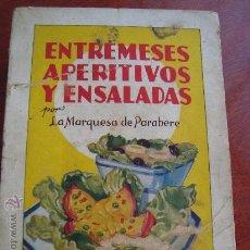 Libros de segunda mano: (297) ENTREMESES, APERITIVOS Y ENSALADAS. Lote 30875247