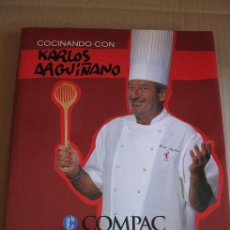 Libros de segunda mano: COCINANDO CON KARLOS ARGUIÑAÑO (KARLOS ARGUIÑANO) ¡¡OFERTA 3X2 EN LIBROS!!. Lote 48403308