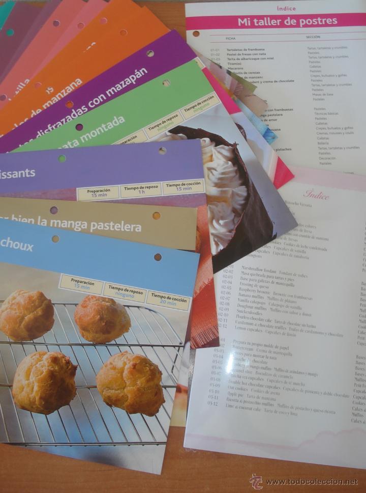 Libros de segunda mano: Lote de 500 RECETAS DE POSTRES Y REPOSTERIA CREATIVA. Incluye archivador, moldes dulces y portatarta - Foto 2 - 49617711