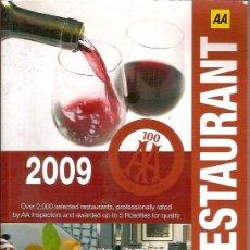 Libros de segunda mano: GUIDE RESTAURANT 2009. Lote 50262110