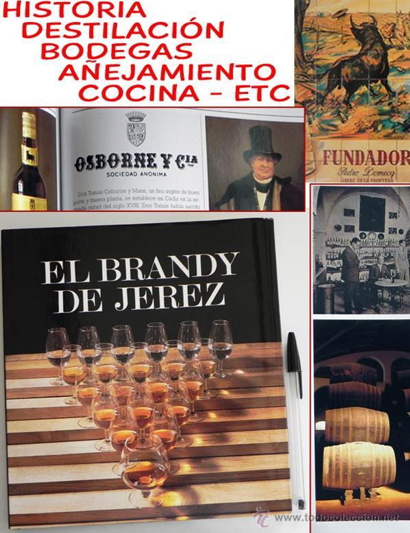 LIBRO EL BRANDY DE JEREZ HISTORIA VID Y VINO CÁDIZ ANDALUCÍA BODEGAS COCINA ETC BEBIDA MUY ILUSTRADO (Libros de Segunda Mano - Cocina y Gastronomía)