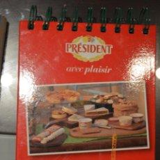 Libros de segunda mano: RECETAS PARA CADA DIA. QUESOS PRESIDENT. Lote 52399093