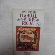 Libros de segunda mano: MANUAL DE LOS VINOS DE RIOJA POR JOSE PEÑIN . Lote 52635274