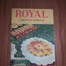 Libros de segunda mano: ROYAL LIBRITO DE FORMULAS (EDICIÓN 1961). Lote 53175313
