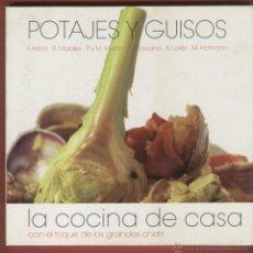 Libros de segunda mano: POTAJES Y GUISOS LA COCINA DE CASA F. ADRIÁ M. HOFMANN Y OTROS CHEFS 120 PAGINAS MADRID 2008 LE751. Lote 53460193