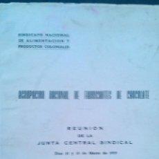 Libros de segunda mano: 1959 AGRUPACION NACIONAL DE FABRICANTES DE CHOCOLATE. JUNTA SINDICAL BOMBONERIA PASTELERIA. Lote 53499658