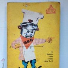 Libros de segunda mano: LIBRO DE RECETAS DE COCINA. POR AQUI LA BUENA COCINA. MAGEFESA. 1961. Lote 53637634