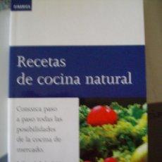 Livres d'occasion: RECETAS DE COCINA NATURAL PEDRO SUBIJANA RESTAURANTE AKELARRE PLAZA JANES. Lote 54008820