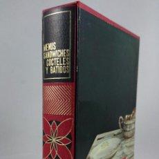 Libros de segunda mano: ENCICLOPEDIA EVEREST PARA EL HOGAR Nº 5 MENÚS, SANDWICHES, CÓCTELES Y BATIDOS. A.M. CALERA. Lote 54216465