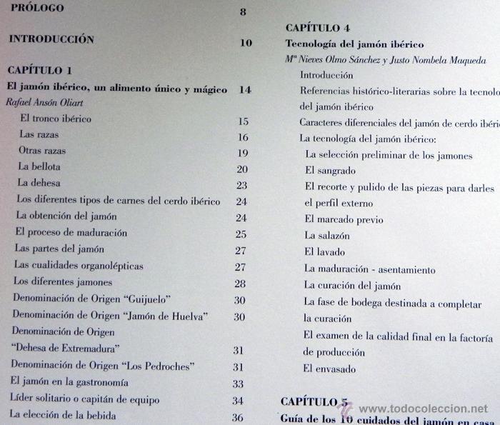 Libros de segunda mano: EL JAMÓN IBÉRICO EN LA GASTRONOMÍA DEL SIGLO XXI - LIBRO JAMONES COMIDA ESPAÑA RECETAS MANJAR CERDO - Foto 8 - 54324252