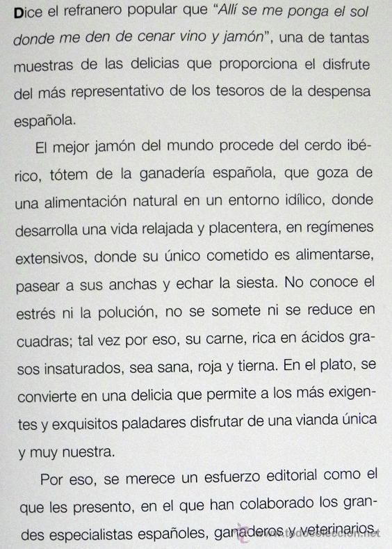 Libros de segunda mano: EL JAMÓN IBÉRICO EN LA GASTRONOMÍA DEL SIGLO XXI - LIBRO JAMONES COMIDA ESPAÑA RECETAS MANJAR CERDO - Foto 10 - 54324252