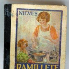 Libros de segunda mano: RAMILLETE DEL AMA CASA NIEVES GRÁFICAS SUMMA OVIEDO 1954 CONTIENE FÓRMULAS COCINA Y REPOSTERÍA. Lote 56257392