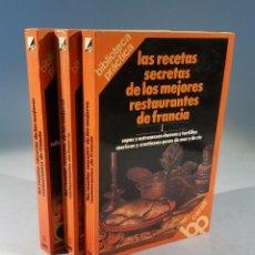 Libros de segunda mano: LOS SECRETOS DE LOS MEJORES RESTAURANTES DE FRANCIA 1978 3 VOLÚMENES BERTHOLLE LOUISETTE. Lote 56293517