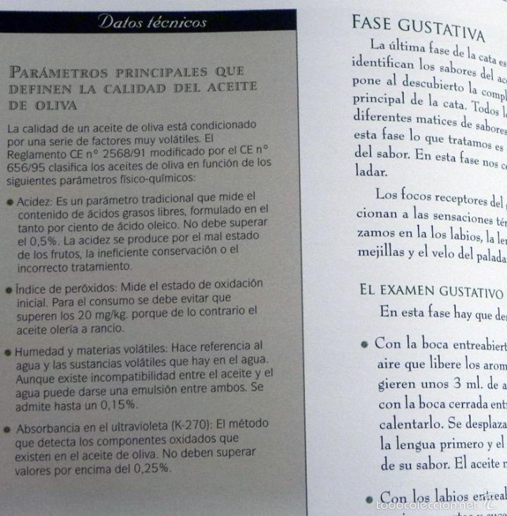 Libros de segunda mano: SABER DE ACEITE LIBRO HERRERA GASTRONOMÍA ACEITUNAS CATA SALUD RECETAS OLIVOS GUÍA ACEITES ANDALUCÍA - Foto 9 - 56905466