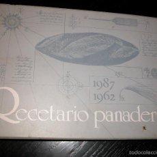 Libros de segunda mano: RECETARIO DE PANADERÍA EN FICHAS AÑOS 80 PROFESIONALES PANADERÍA PASTELERÍA. Lote 57119797