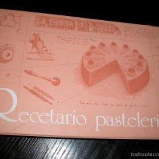 Libros de segunda mano: RECETARIO DE PASTELERÍA EN FICHAS AÑOS 80 PROFESIONALES PANADERÍA PASTELERÍA. Lote 57119808