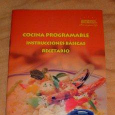 Libros de segunda mano: LIBRO COCINA PROGRAMABLE INSTRUCCIONES BÁSICAS RECETARIO ARISTOKRATISH ART IN YOUR LIFE. Lote 105792510