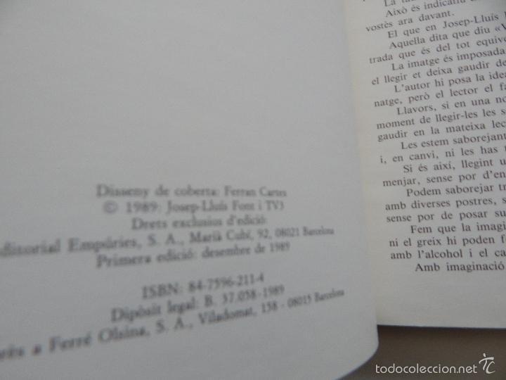 Libros de segunda mano: Bona cuina - Josep-Lluís Font 1989 - Foto 6 - 58333179