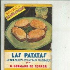 Libros de segunda mano: LAS PASTAS. LAS 125 MEJORES RECETAS PARA PREPARARLAS. G. BERNARD DE FERRER. Lote 58374530