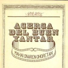 Libros de segunda mano - Acerca del buen yantar. Gipuzkoa, 1984 - 161426090