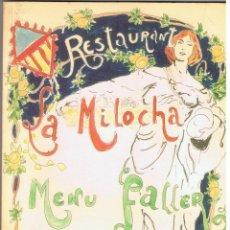 Libros de segunda mano: RESTAURANT LA MILOCHA MENU FALLER COMPOT - ALBUFERA 1999 128 PÁGINAS - 520 EIXEMPLAR MD156. Lote 58802226