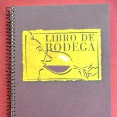 Libros de segunda mano: LIBRO DE BODEGA - RAIMAT -CON FICHAS O PAGINAS PARA PONER ETIQUETAS DE VINOS Y CATAS - SIN USO - VER. Lote 59936355