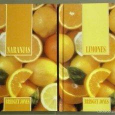 Libros de segunda mano: NARANJAS Y LIMONES. 2 TOMOS. BRIDGET JONES. 1995. A COLOR. 128 PÁG. TAPA DURA. COMO NUEVOS!!. Lote 60887483