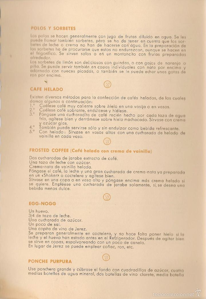 Libros de segunda mano: * RECETAS COCINA * Un nuevo arte de comer - 1958 - Foto 6 - 57260124