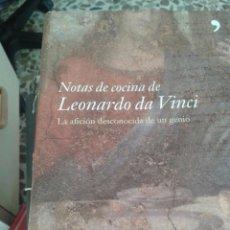 Libros de segunda mano: NOTAS DE COCINA DE LEONARDO DA VINCI. Lote 61527691