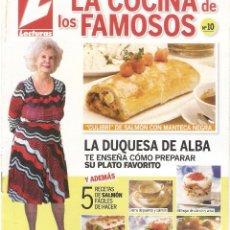 Libros de segunda mano: LA COCINA DE LOS FAMOSOS - LECTURAS - Nº 10 AL 19. Lote 66834178