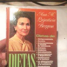 Libros de segunda mano: ANTIGUO LIBRO DE ANA MA. LAJUSTICIA BERGASA DIETAS AÑO 1979 . Lote 69714069