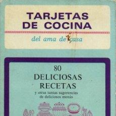 Libros de segunda mano: TARJETAS DE COCINA DEL AMA DE CASA. AÑO 1969. (11.5). Lote 72725007
