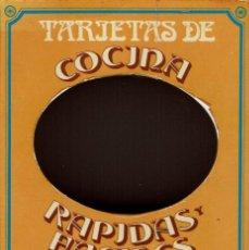 Libros de segunda mano: TARJETAS DE COCINA RÁPIDAS Y FÁCILES DE PREPARAR. AÑO 1972. (11.5). Lote 72725091