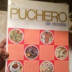 Libros de segunda mano: ANTIGUO LIBRO PUCHERO DE RECETAS COLECCIONES GRAFICAS FULLGRAF AÑO 1969 . Lote 73498735