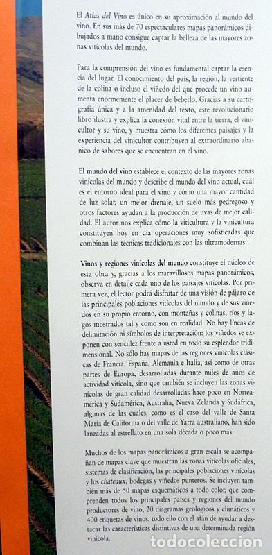Libros de segunda mano: ATLAS DEL VINO: VINOS Y REGIONES VINÍCOLAS DEL MUNDO - OZ CLARKE - BLUME - 1996 (1ª EDICIÓN) - NUEVO - Foto 3 - 75231787