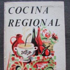 Libros de segunda mano: COCINA REGIONAL. RECETARIO. 5 EDICION. 1976. . Lote 76409895