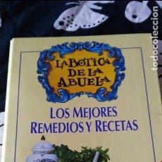 Livros em segunda mão: LA BOTICA DE LA ABUELA - EL NORTE DE CASTILLA-CAJA DUERO - LOS MEJORES REMEDIOS Y RECETAS. Lote 76878451