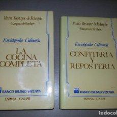 Libros de segunda mano: DOS LIBROS DE MARÍA MESTAYER-COCINA COMPLETA Y CONFITERÍA Y REPOSTERÍA. Lote 77940453