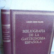 Libros de segunda mano: BIBLIOGRAFIA DE LA GASTRONOMÍA ESPAÑOLA. Lote 78361285