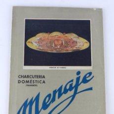 Libros de segunda mano: REVISTA DE COCINA Y HOGAR, CHARCUTERIA DOMESTICA, NUM. 142. OCTUBRE DE 1942. TIENE 76 PAG. MEDIDAS:. Lote 80171493