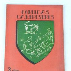 Libros de segunda mano: REVISTA DE COCINA Y HOGAR, COMIDAS CAMPESTRES, NUM. 186. JUNIO DE 1946. TIENE 68 PAG + PUBLICIDAD. . Lote 80172129