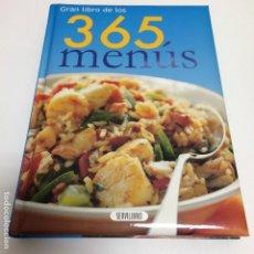 Libros de segunda mano: GRAN LIBRO DE LOS 365 MENÚS. Lote 80777742