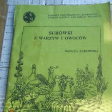 Libros de segunda mano: POLSKA KSIAZKA - SUROWKI Z WARZY I OWOCOW LIBRO POLACO RECETAS COCINA ---REFMENOEN. Lote 80781742