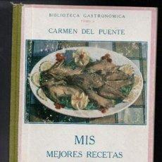 Libros de segunda mano: MIS MEJORES RECETAS DE VOLATERÍA. BIBLIOTECA GASTRONÓMICA CARMEN DEL PUENTE. TOMO 5. Lote 81157564