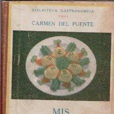 Libros de segunda mano: MIS MEJORES RECETAS DE HUEVOS, CARMEN DEL PUENTE. Lote 82013972
