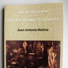 Libros de segunda mano: BREVE HISTORIA DE LA GASTRONOMÍA ANDALUZA. JUAN ANTONIO MOLINA. CON RECETAS. Lote 85259308