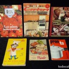 Libros de segunda mano: LOTE DE 6 LIBROS DE COCINA. RECETARIOS. CORBERO, PRONTO, MAGEFESA, ODAG, SUSAETA. AÑOS 60-70. Lote 85339628