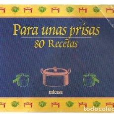 Libros de segunda mano: VE15 - COCINA MICASA. PARA UNAS PRISAS, 80 RECETAS. DE 1999. Lote 85821456