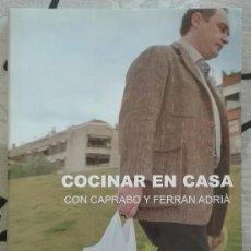 Libros de segunda mano: COCINAR EN CASA CON CAPRABO Y FERRÁN ADRIÀ. EL BULLI BOOKS. CUADERNO Nº 1. 29 CM. RAREZA!. Lote 157051476