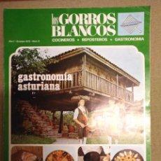 Libros de segunda mano: REVISTA LOS GORROS BLANCOS,GASTRONOMIA ASTURIANA. Lote 86368032